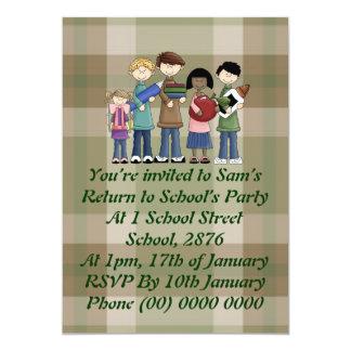 School Essentials 5x7 Paper Invitation Card