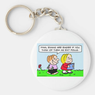 school final exams exit polls keychain