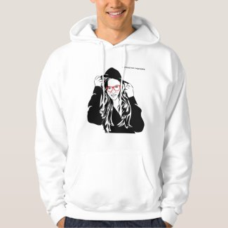School for Hackers white mens' pullover hoodie