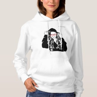 School for Hackers white womens' pullover hoodie