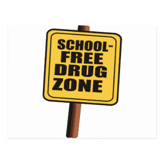 SCHOOL FREE DRUG ZONE POSTCARD