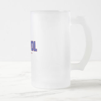 SCHOOL FROSTED GLASS BEER MUG