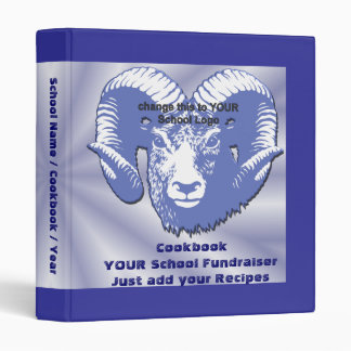 School Fundraiser Recipe Book Binder Cookbook