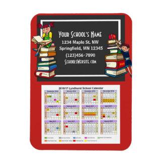 School Fundraising Calendar w/Books Magnet