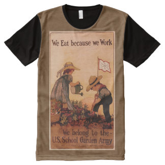 School Garden Army Poster All-Over-Print Shirt