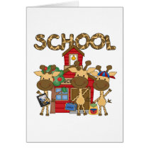 School - Giraffe Tshirts and Gifts Card