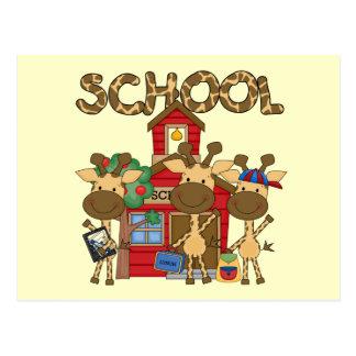 School - Giraffe Tshirts and Gifts Postcard