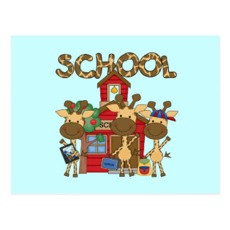 School - Giraffe Tshirts and Gifts Postcard