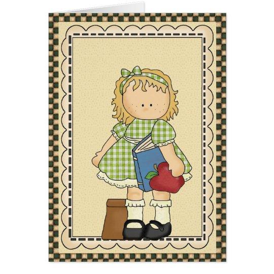 School Girl Card