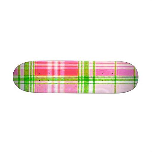 School Girl Plaid Betty Deck Skate Board Deck