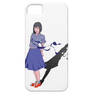 school girl shadowed iPhone SE/5/5s case