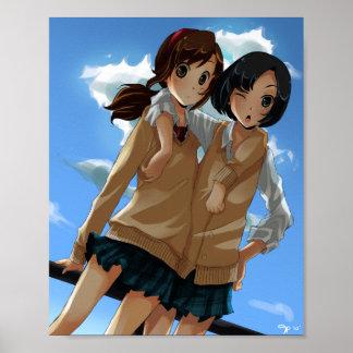 """School Girls 8"""" x 10"""" Matte Poster"""