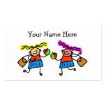 School Girls Business Card Template