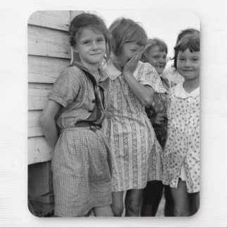 School Girls in Great Depression, 1930s Mouse Pad