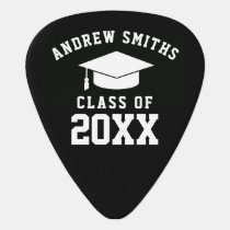 School graduate / graduation black guitar pick