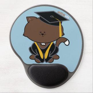 School Graduation Cap and Gown Cat Gel Mousepad