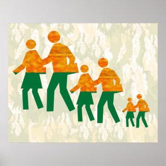 School Graphics :  Walk n Grow Together Poster