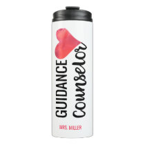 School Guidance Counselor Personalized Watercolor Thermal Tumbler
