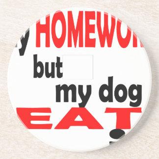 school homework summer quote diligent lazy dog bla coaster