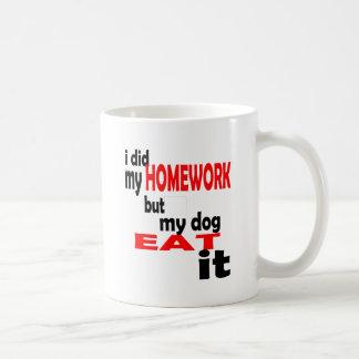 school homework summer quote diligent lazy dog bla coffee mug