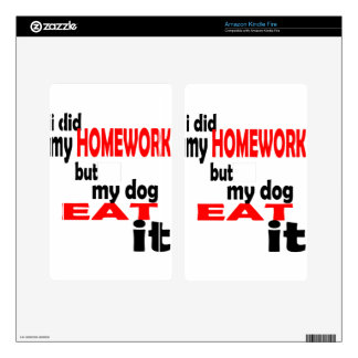 school homework summer quote diligent lazy dog bla kindle fire skin