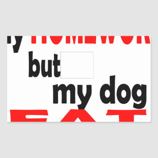 school homework summer quote diligent lazy dog bla rectangular sticker