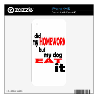 school homework summer quote diligent lazy dog bla skin for iPhone 4