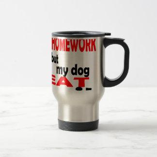 school homework summer quote diligent lazy dog bla travel mug