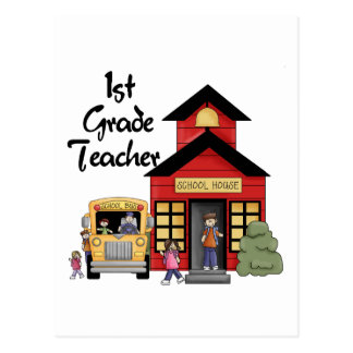 School House 1st Grade Teacher T-shirts and Gifts Postcard