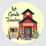 School House 1st Grade Teacher T-shirts and Gifts Stickers
