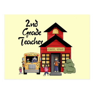 School House 2nd Grade Teacher Tshirts and Gifts Postcard