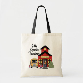 School House 4th Grade Teacher Tshirts and Gifts Canvas Bag