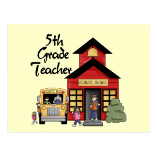 School House 5th Grade Teacher T-shirts and Gifts Postcard