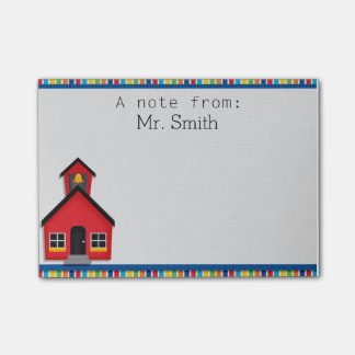 School House Personalized Teacher Post It Note Pad Post-it® Notes