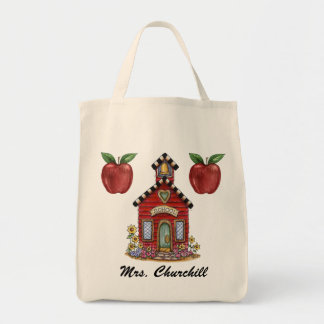 School House Teacher Tote - SRF Canvas Bags