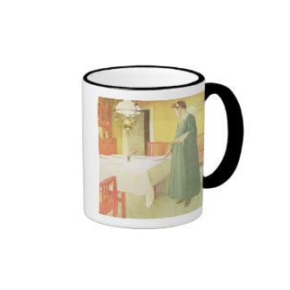 School Household, Dining Room Scene, pub. in 'Lass Ringer Coffee Mug