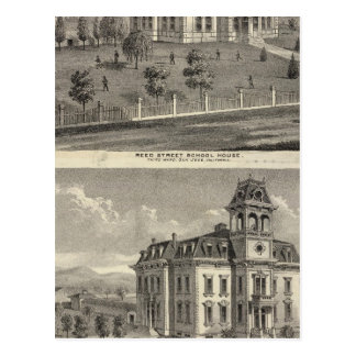 School houses, San Jose Postcard