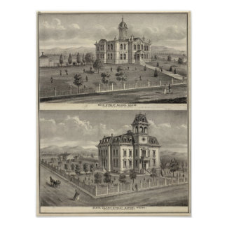 School houses, San Jose Poster