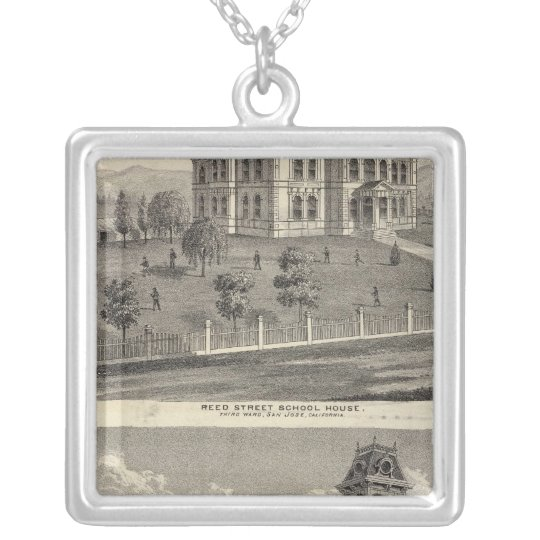 School houses, San Jose Silver Plated Necklace