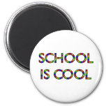 School is Cool 2 Inch Round Magnet