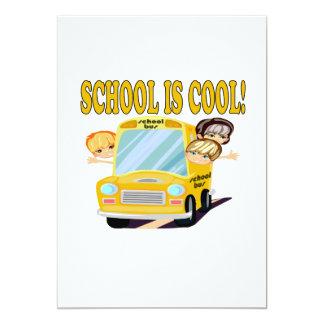 "School Is Cool 2 5"" X 7"" Invitation Card"