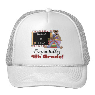 School is Cool 4th Grade Tshirts and Gifts Trucker Hats