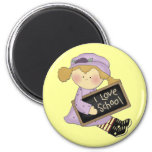 School is Cool Blond Girl  Tshirts and Gifts Fridge Magnets