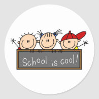 School is Cool Classic Round Sticker
