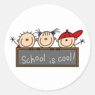 School is Cool Classic Round Sticker