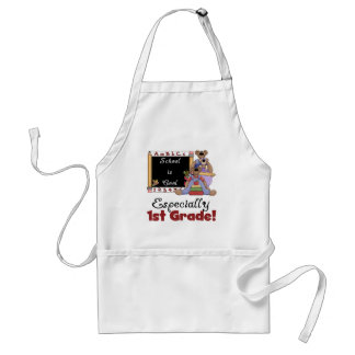 School is Cool Especially 1st Grade Adult Apron