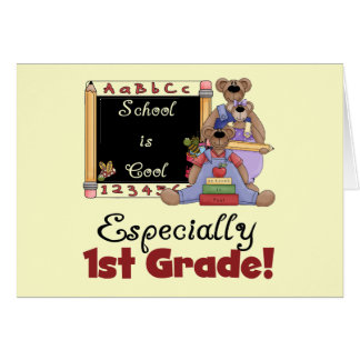 School is Cool Especially 1st Grade Card