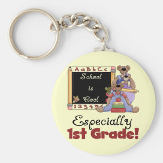 School is Cool Especially 1st Grade Keychain