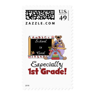 School is Cool Especially 1st Grade Postage
