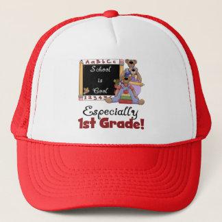 School is Cool Especially 1st Grade Trucker Hat